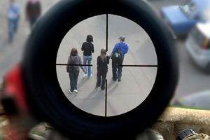 Стрельба из окна в Москве