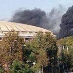 В Москве горит крупнейший в городе стадион «Лужники»