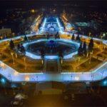 Новогодним парадом открылся каток на ВДНХ