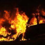 На Рублевском шоссе подожгли сразу несколько автомобилей
