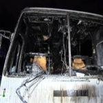 Трагедия в ЮЗАО: в загоревшемся автобусе погиб человек