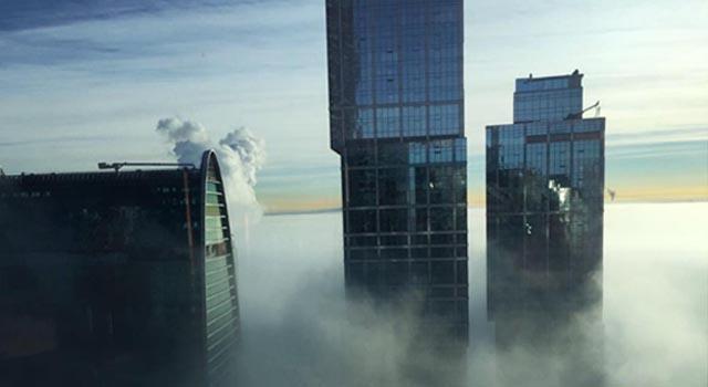 7 января в небе Москвы и Подмосковья можно было смотреть гало (паргелий), а 9 января над Москвой спустился густой туман (смотреть фото)