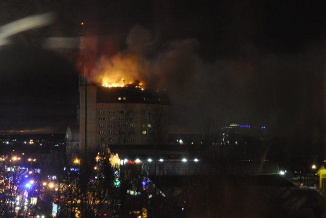 В ночь на 19 февраля в Наро-Фоминске загорелось здание, в котором располагается местная налоговая инспекция