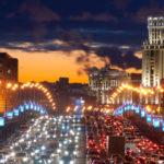 Водители, внимание! Из-за плохой погоды на некоторых дорогах Москвы 9-балльные пробки!