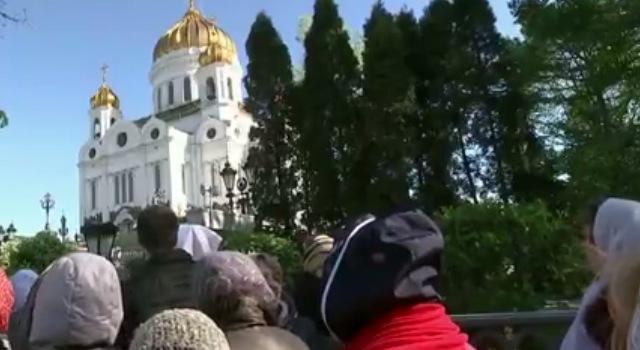 В Москвы прибыли мощи Чудотворца
