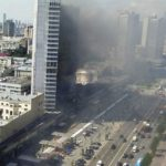 На Новом Арбате горит легендарный «дом-книжка» (фото)