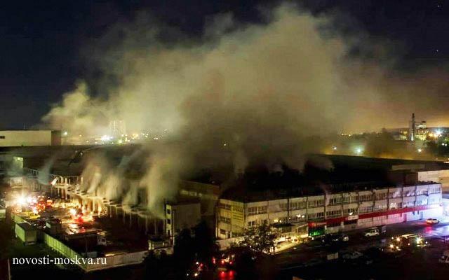 Пожар на складе в Мытищах есть жертвы