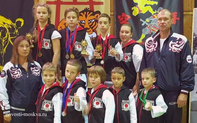 Каратисты из Хорошевского района привезли из Прибалтики россыпь наград