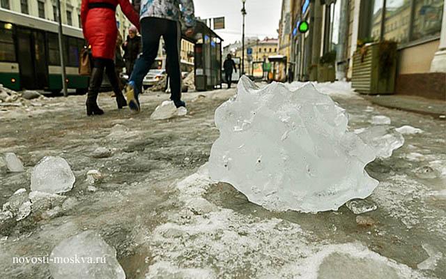 Гибель мужчины в Басманном районе в Лялином переулке из-за падения снега